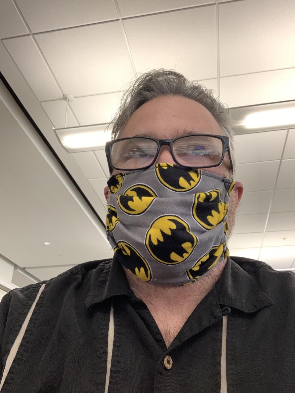Mom made me a bat mask